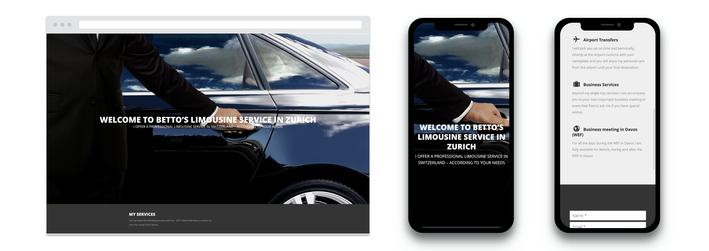 Betto Limo Website
